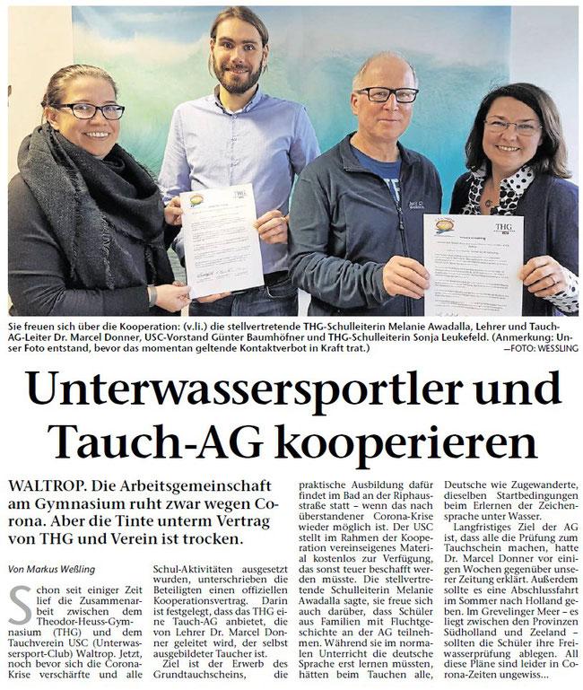 Artikel aus der Waltroper Zeitung vom 25.03.2020
