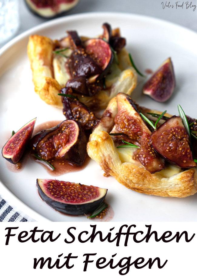 Feta Schiffchen mit Portweinfeigen - Ein leckeres Rezept als Vorspeise, Mittagessen, Abendessen oder zum Bruch. Herrliches Blätterteig Gericht schnell und einfach.