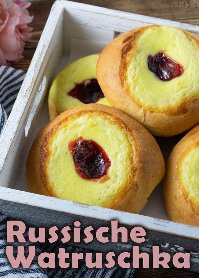 Russische Watruschka - Russische Rezepte, Rezepte aus Russland, Weltrezepte, Dessert, Backen, Nachspeise, Snakcs