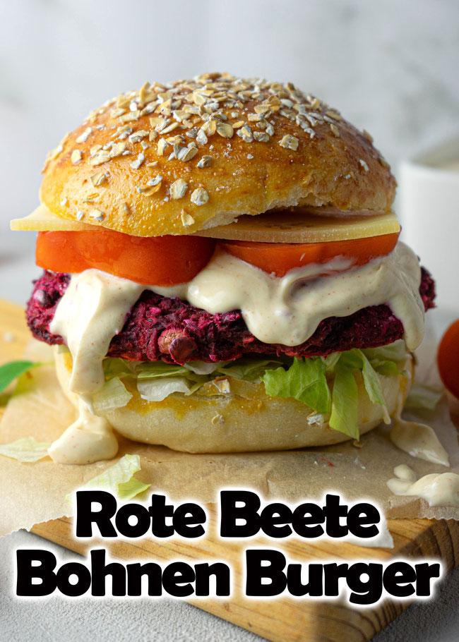 Rote Beete Bohnen Burger