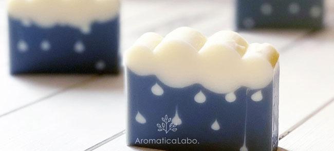 雪だるませっけん Snowman soap レシピ作り方レッスン オンラインレッスン