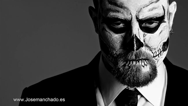 skull tattoo, skull body paint, skull bodypaint