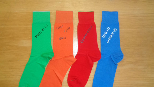 Socken speziell bedrucken lassen