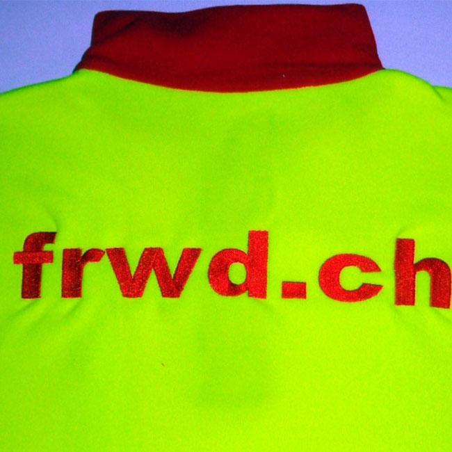 Logo gestickt, bestickt oder besticken auf Sicherheitjacke in zürich adliswil