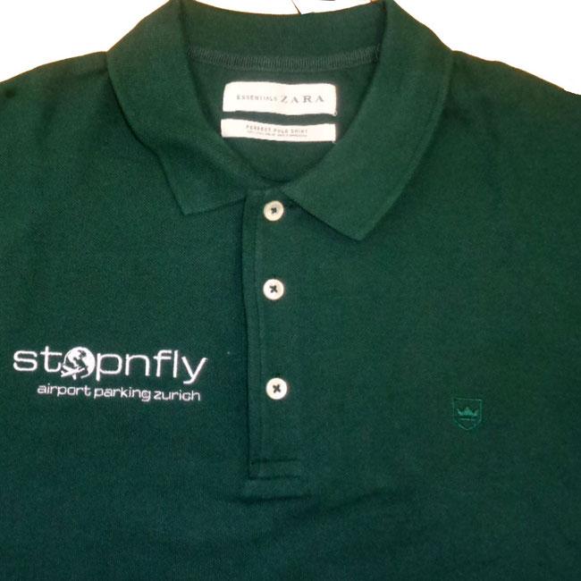 Poloshirts inkl 1 logo stick auf der Brust. Bei uns können Sie Logo sogar gratis besticken lassen