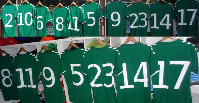 Sportshirts bedrucken für Fussballmannschaft,Sportvereine Golf, Eishocky etc