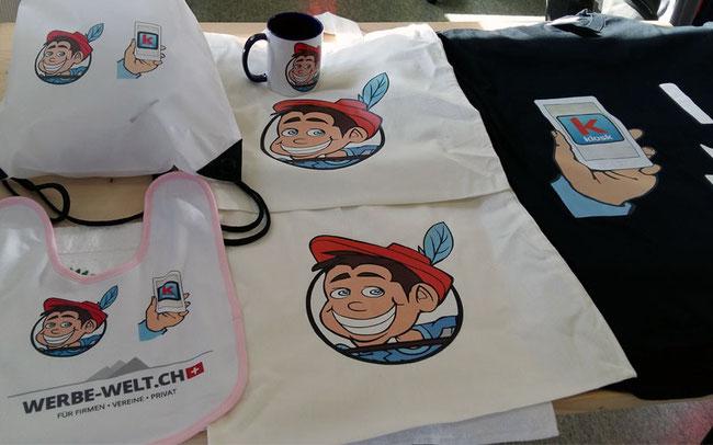 Bedruckte baby lätzchen, T-Shirt, Tasche, Turnbeutel mit Logo, Slogan, Sprüche bedruckt