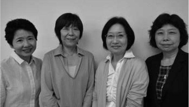 左から新理事に就任した 小矢野 庄司 竪山 伊東 の各氏 (東京手をつなぐ親の会7月第534号より転載しました。)