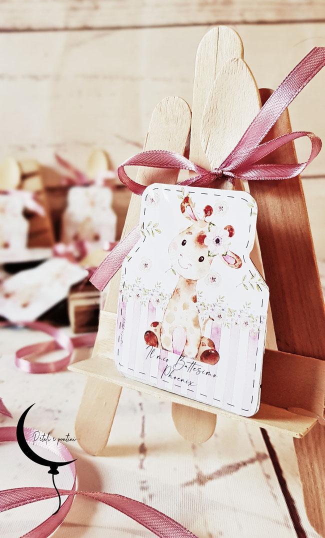nutelline personalizzate nutella battesimo bimba giraffa rosa