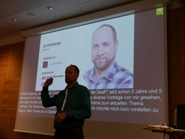 DeafIT Konferenz 2018: Jo Spelbrink aus Österreich
