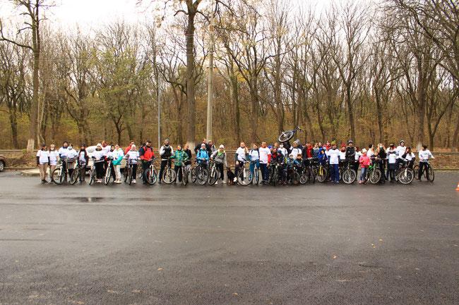 Участники велопробега. Армавир 22.11.2020 г.