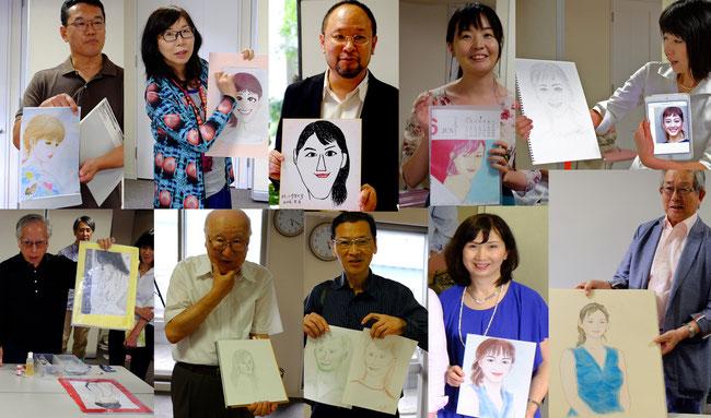 美人シリーズ第3回 綾瀬はるかをみんなで描こう・語ろう! 美人画イラスト、似顔絵、日本画、鉛筆画、パステル画、など多彩な綾瀬はるかさんです。今回は似顔絵画家の小河原智子先生もご参加くださいました。