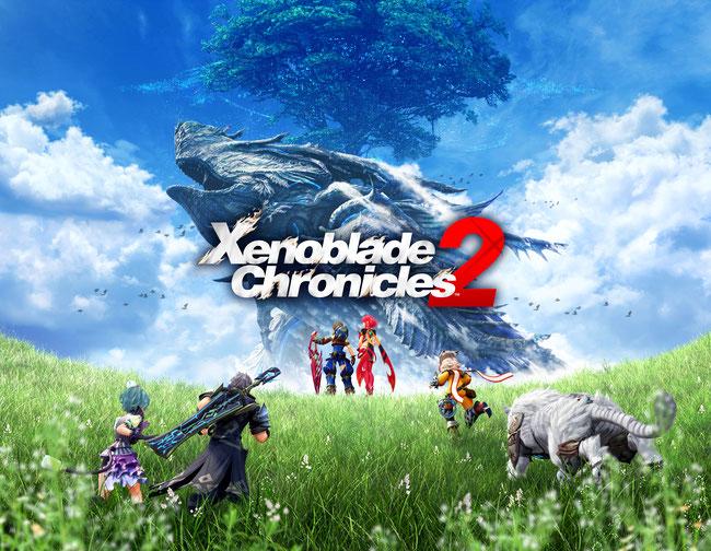 Xenoblade Chronicles 2, Nintendo, Switch, Rex. Tora, Pyra, Titan, Blade, Driver, Elysium, JRPG, Monolith Software Inc, Poppi, Nia, Wolkenmeer