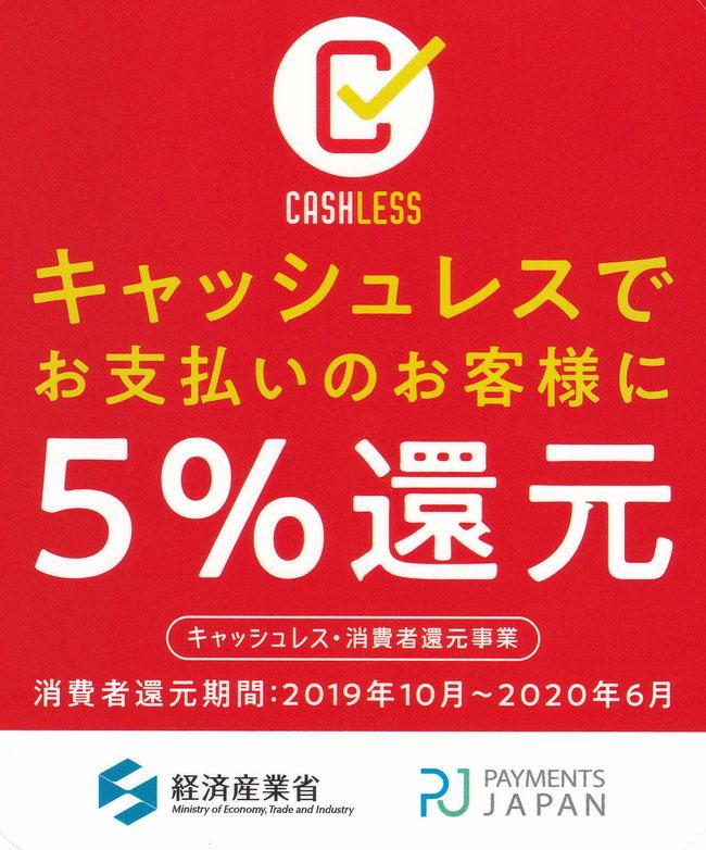 キャッシュレスポイント5%還元事業店 日野市畳店アシザワセイジョウ