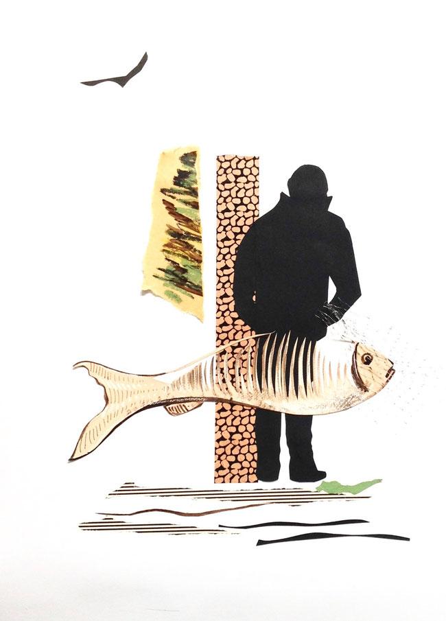 JE T AURAI  - Collages -40 X 50cm- encadrement noir-