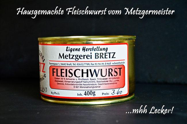 Hausgemachte Fleischwurst vom Landmetzger