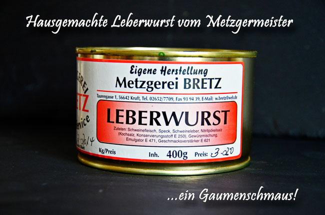 Hausgemachte Leberwurst vom Landmetzger