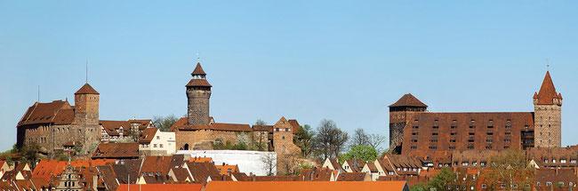 ニュルンベルク城のパノラマ写真