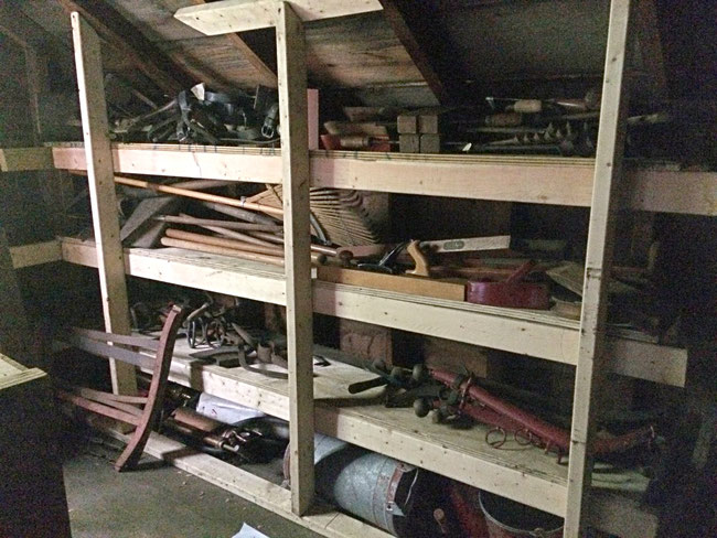 This shelving was constructed by volunteer Robert Boehm.