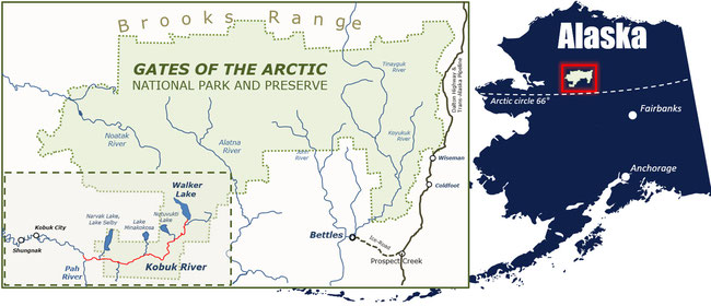 Map Gates of the Arctic