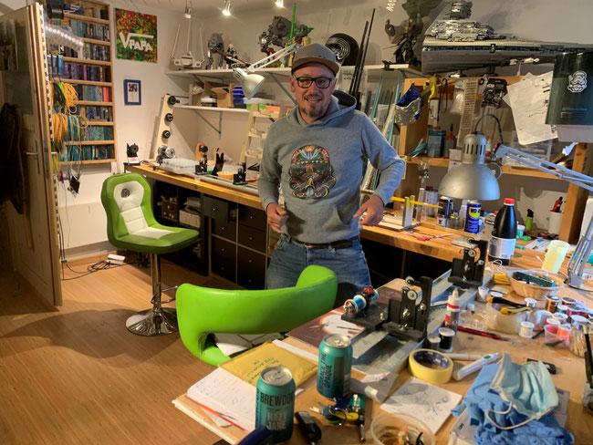 Renato Vitalini in seiner Werkstatt