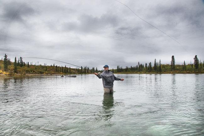 Flyfishing at Walker Lake Alaska