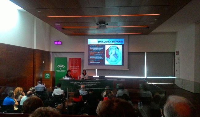 Ana Escobar durante la presentación
