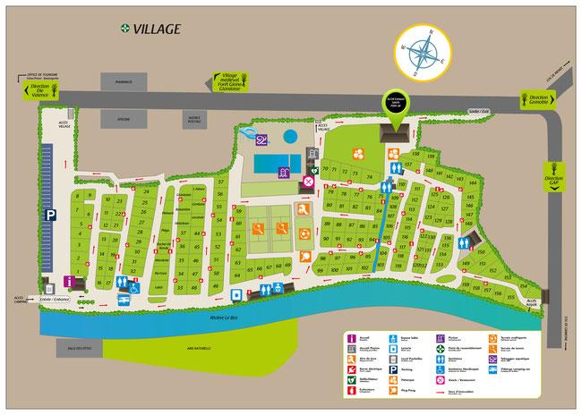 Campsite's map