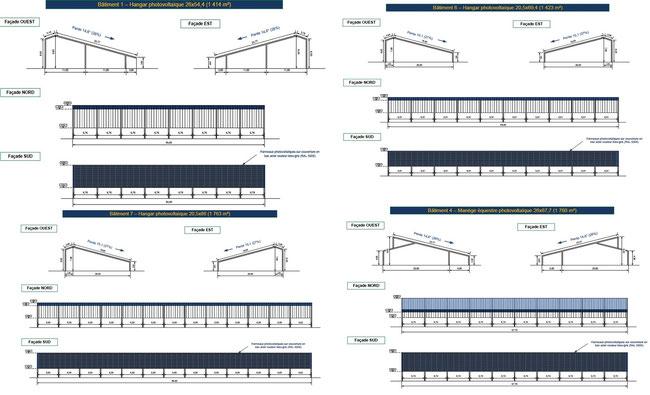 plan hangar, manège, bâtiment photovoltaïque gratuit eco solution energie