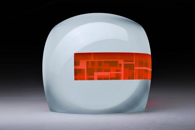 Internal | cut, ground, laminated, hand polished glass | 30 x 30 x 23 cm | 2016 | ●