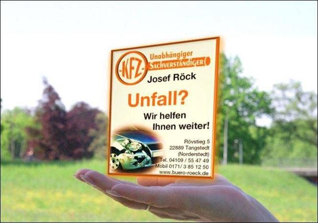 #Kfz-Gutachter Josef #Röck hilft Ihnen bei einem #Unfallschaden zu ihrem #Recht zu kommen. Erstellung von #Gutachten, #Fahrzeugbewertung und #Kaufberatung im Raum #Norderstedt, #Quickborn, #Bönningstedt, #Tangstedt, #Hamburg.