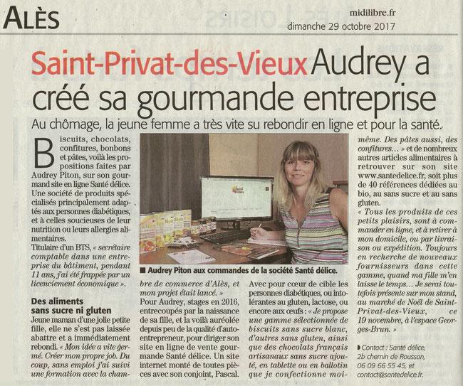 article Midi Libre Alès Saint Privat des Vieux Santé Délice