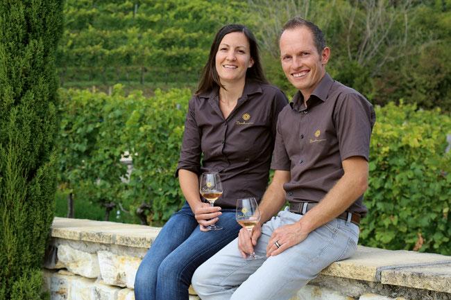 Rahel und Daniel Buchmann Dätwyler setzen in ihrem Weinbaubetrieb auf Nachhaltigkeit.