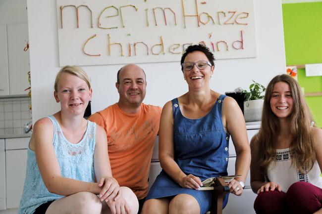 Die Betreuungscrew mit Chantal König, Daniel und Monica Kehrli sowie Nicolette Hoosli.