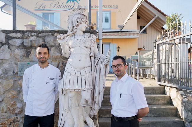 Maurizio und Giuseppe Laneri freuen sich auf die Weindegustation am 10. Juni.
