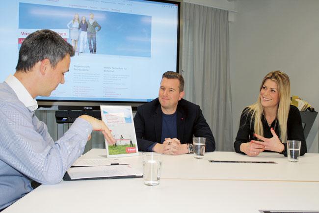 Zwei langjährige Immobilienprofis, die im Lehrgang jeweils auf tagesaktuelle Beispiele zurückgreifen können: Stefanie Köppli-Chipperfield und Sven Gloor (Mitte) im Gespräch mit Regio aktuell.