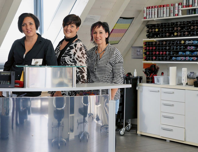 Das kreative und vielseitige Creative Hairstyle-Team um Heidi Güdel (rechts).