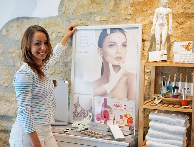 Lorena Stäuble in ihrem Kosmetiksalon an der Hauptstrasse 59 in Frick.