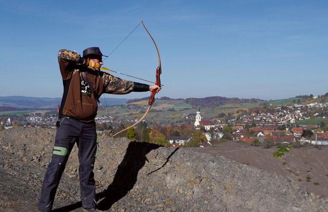 Martin Kroehl zielt auf die Realisierung eines Kompetenzzentrums für traditionelles Bogenschiessen in der Schweiz im Fricktal ab.