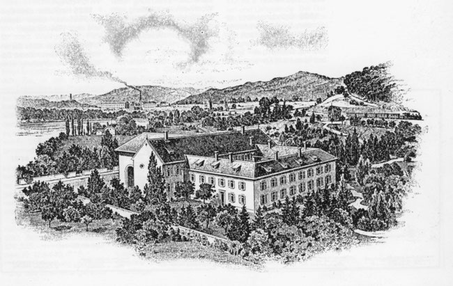 Undatierter Stich des einstigen Kapuzinerklosters in Laufenburg; der Konvent ist 1805, noch vor der allgemeinen Klosteraufhebung 1841 im Aargau aufgelöst worden.