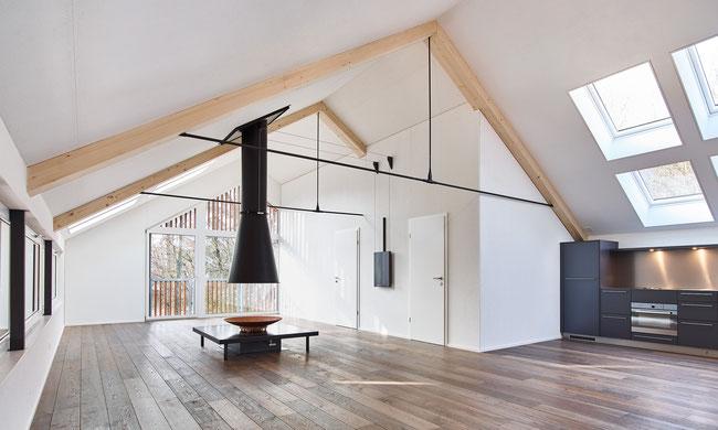 Neubau eines Ateliers in Holzelementbauweise als Gesamtleister ausgeführt.