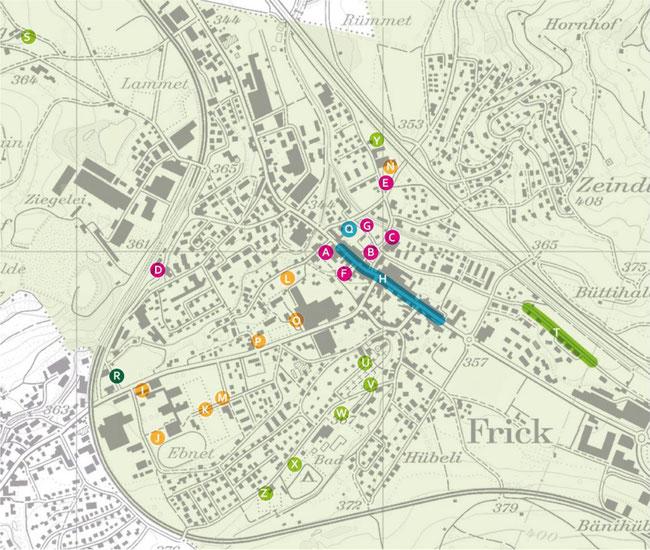 Übersicht über die öffentlichen Parkplätze und das Bewirtschaftungsregime.