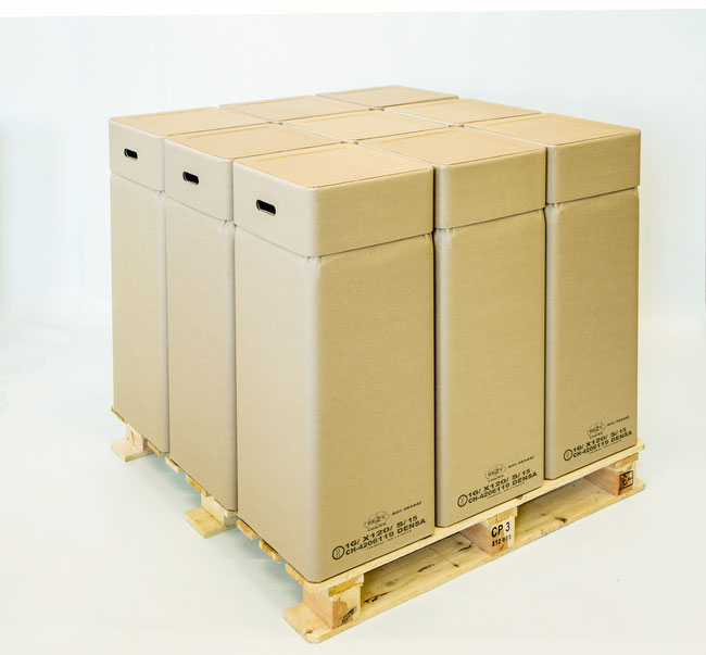 «Eco Drums» der Densa AG in Eiken sind zu 100%  recyclierbar.