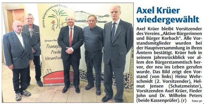 Axel Krüer wiedergewählt