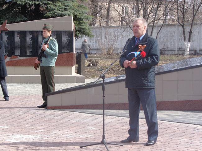 Выступление начальника Орехово-Зуевской школы ДОСААФ России   М.В. Иванов.