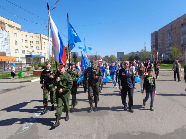 колонна автошколы ДОСААФ Орехово-Зуевской школы