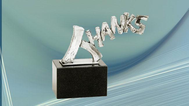"""Häufig geht es bei einer Deko-Skulptur um ein Geschenk – auch an sich selbst, um """"Danke"""" zu sagen."""