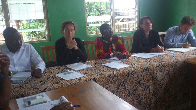 Séance de travail avec la délégation spéciale de la commune de kpalimé et l'équipe de tournée de la GIZ au projet Sport Développement