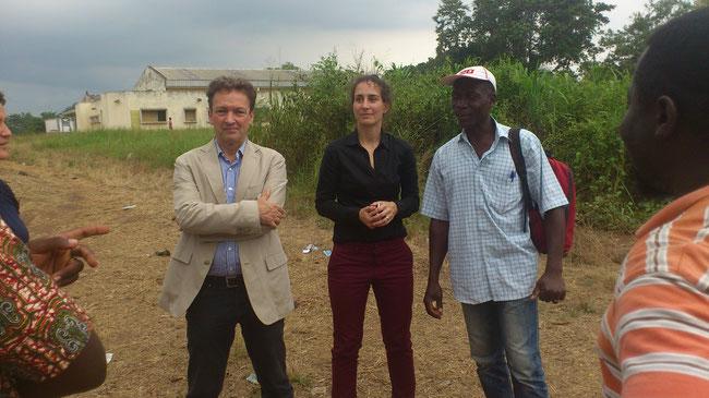 Visite de la délégation de la GIZ au projet camp chantier International Sport Développement Kpalimé, ETE 2015