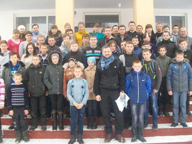 25 січння відбулася зустріч з учасником АТО підполковником Мохончуком Р. І.
